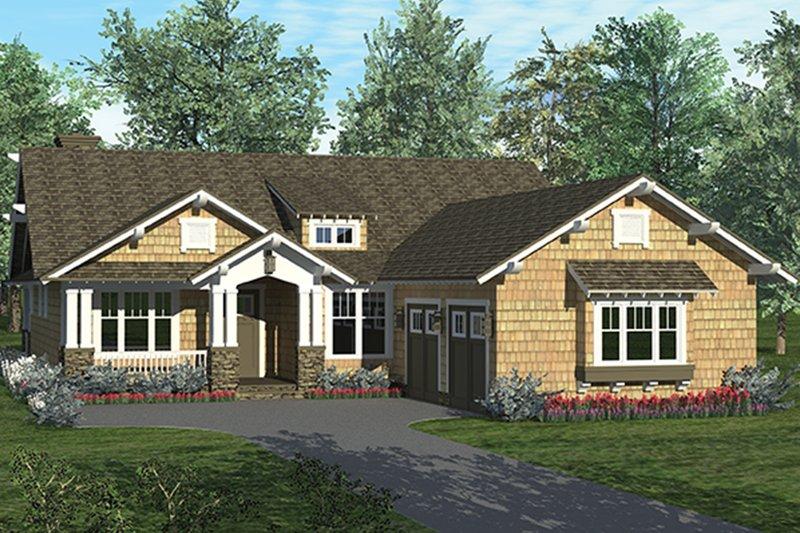 Craftsman Exterior - Front Elevation Plan #453-623 - Houseplans.com
