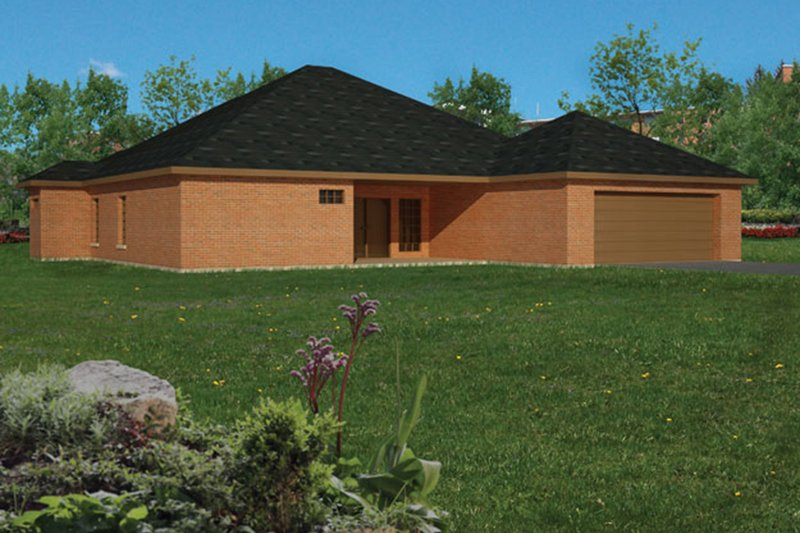 Ranch Exterior - Rear Elevation Plan #1061-22 - Houseplans.com