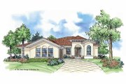 Mediterranean Style House Plan - 3 Beds 2 Baths 2010 Sq/Ft Plan #930-389 Exterior - Front Elevation