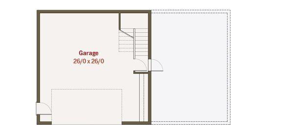 Craftsman Floor Plan - Lower Floor Plan Plan #461-34
