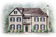 Colonial Style House Plan - 3 Beds 3 Baths 1906 Sq/Ft Plan #54-127 Exterior - Front Elevation