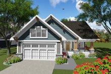 Dream House Plan - Craftsman Exterior - Front Elevation Plan #70-1256