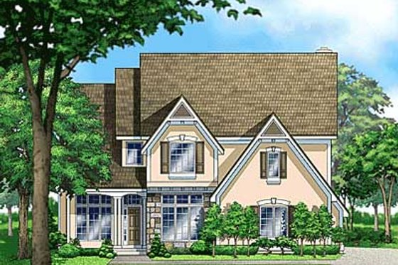 European Exterior - Front Elevation Plan #67-562