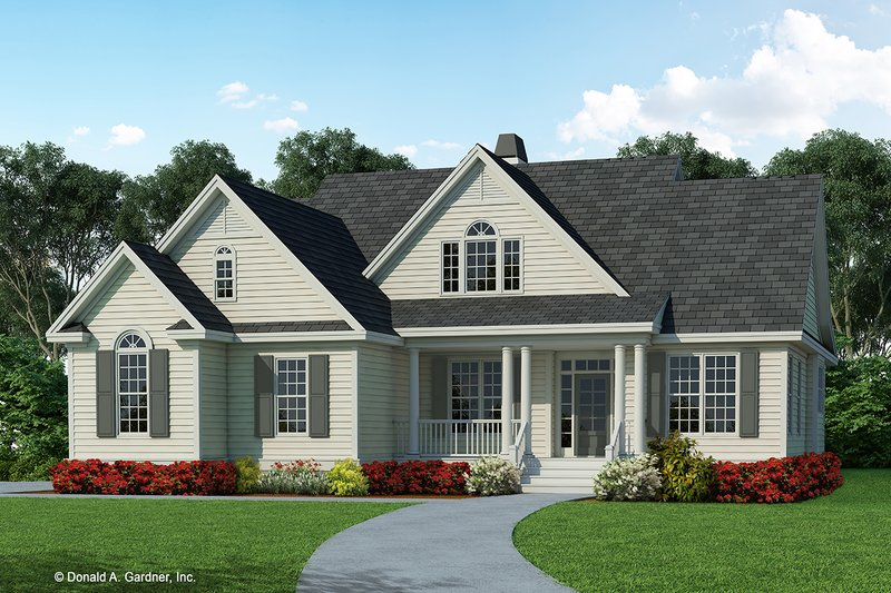 Country Exterior - Front Elevation Plan #929-625
