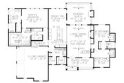 Farmhouse Style House Plan - 4 Beds 3.5 Baths 2880 Sq/Ft Plan #54-389 Floor Plan - Main Floor
