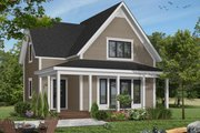 Country Style House Plan - 2 Beds 1.5 Baths 1176 Sq/Ft Plan #23-228 Exterior - Front Elevation