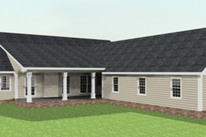 Country Exterior - Rear Elevation Plan #44-123 - Houseplans.com