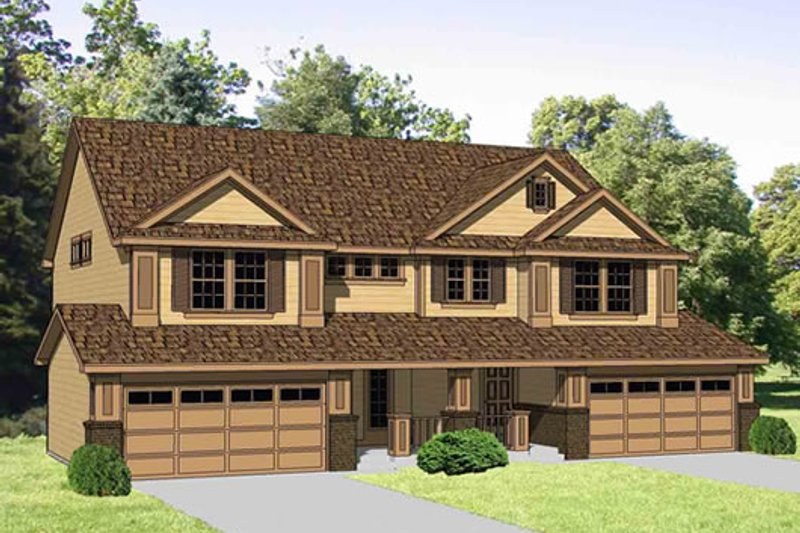 Traditional Style House Plan - 3 Beds 2.5 Baths 3286 Sq/Ft Plan #116-284 Exterior - Front Elevation