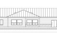 Farmhouse Exterior - Rear Elevation Plan #1077-3