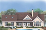 Country Style House Plan - 4 Beds 2.5 Baths 2273 Sq/Ft Plan #929-348 Exterior - Rear Elevation