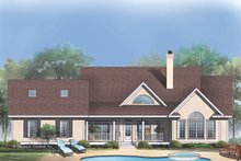 Country Exterior - Rear Elevation Plan #929-348
