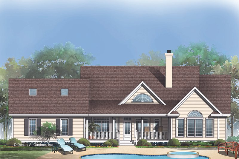 Country Exterior - Rear Elevation Plan #929-348 - Houseplans.com