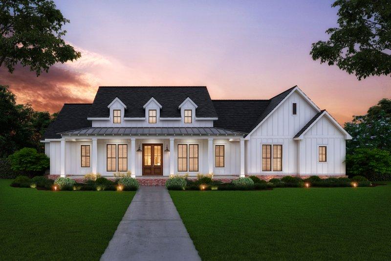 House Plan Design - Farmhouse Exterior - Front Elevation Plan #1074-13