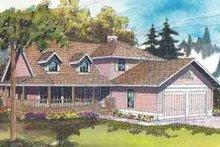 Farmhouse Exterior - Front Elevation Plan #124-400