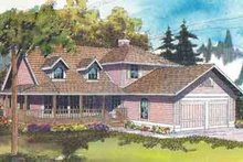 Architectural House Design - Farmhouse Exterior - Front Elevation Plan #124-400