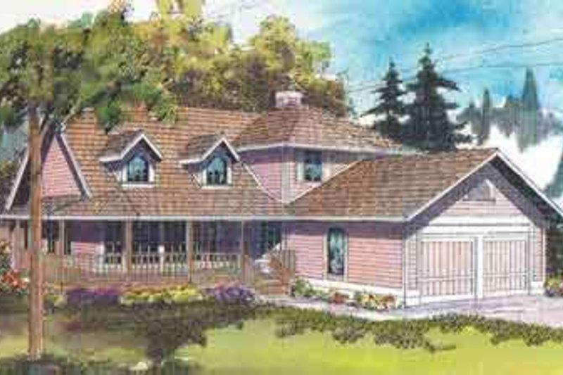 Farmhouse Exterior - Front Elevation Plan #124-400 - Houseplans.com