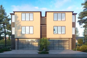 Contemporary Exterior - Front Elevation Plan #1066-119
