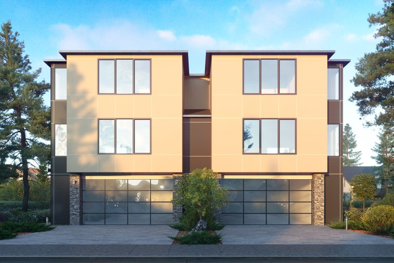 Architectural House Design - Contemporary Exterior - Front Elevation Plan #1066-119