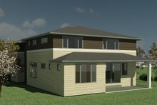 House Design - Contemporary Exterior - Rear Elevation Plan #1066-131