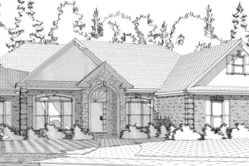 Traditional Style House Plan - 4 Beds 2.5 Baths 2420 Sq/Ft Plan #63-201 Exterior - Front Elevation