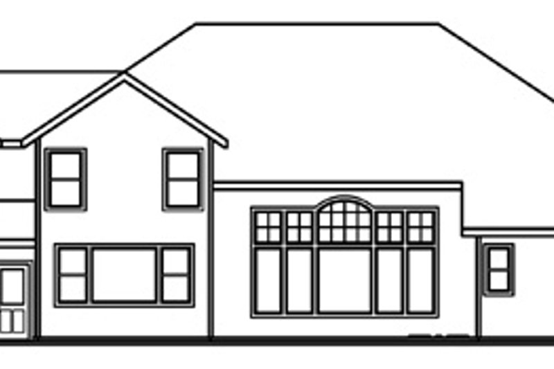 Traditional Exterior - Rear Elevation Plan #124-541 - Houseplans.com
