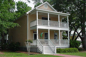 Southern style home, traditional design, front elevation