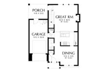 Cottage Floor Plan - Main Floor Plan Plan #48-674