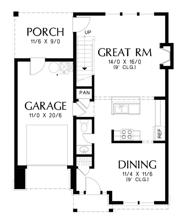 Dream House Plan - Cottage Floor Plan - Main Floor Plan #48-674