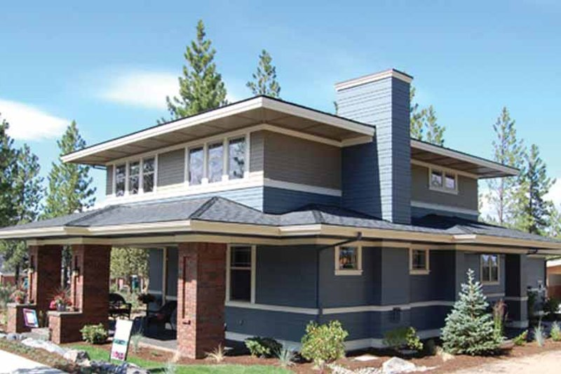 House Design - Prairie Exterior - Front Elevation Plan #895-74