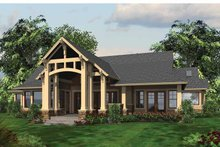 Architectural House Design - Craftsman Exterior - Rear Elevation Plan #132-548