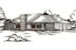 Architectural House Design - Traditional Exterior - Front Elevation Plan #405-147