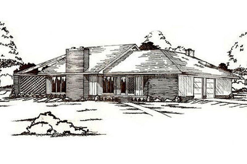 Traditional Exterior - Front Elevation Plan #405-147
