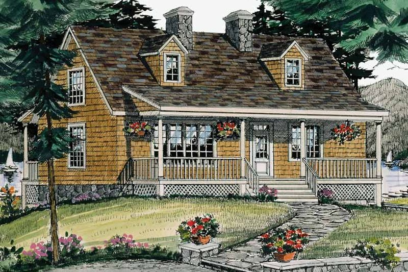 Country Exterior - Front Elevation Plan #314-197 - Houseplans.com