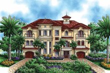 Mediterranean Exterior - Front Elevation Plan #1017-48
