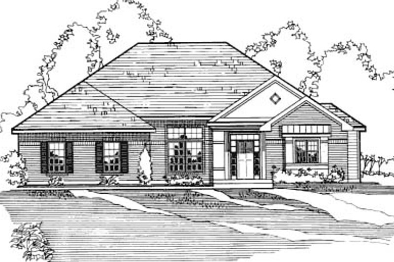 Traditional Exterior - Other Elevation Plan #31-112 - Houseplans.com