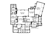 Mediterranean Style House Plan - 6 Beds 5 Baths 6493 Sq/Ft Plan #1058-1 Floor Plan - Main Floor Plan