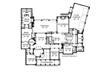 Mediterranean Floor Plan - Main Floor Plan Plan #1058-1