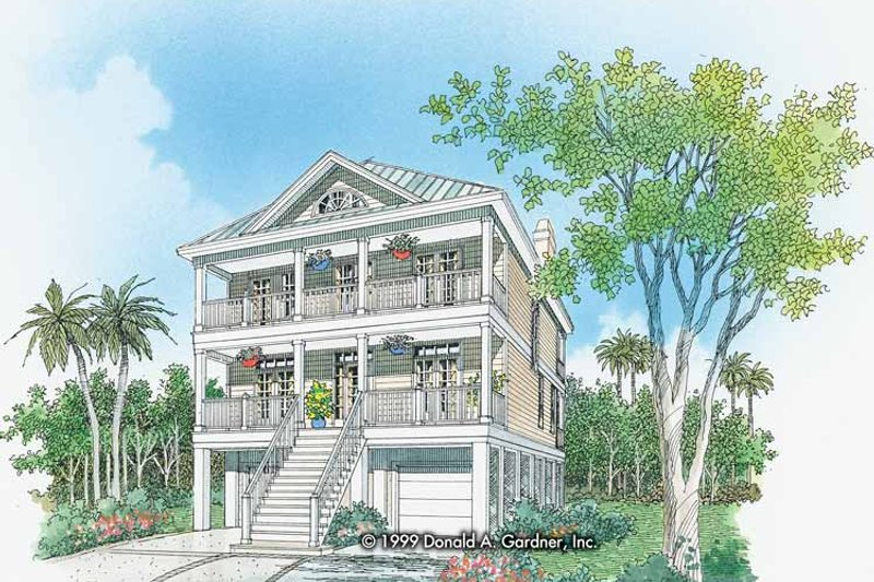 Classical Exterior - Front Elevation Plan #929-506