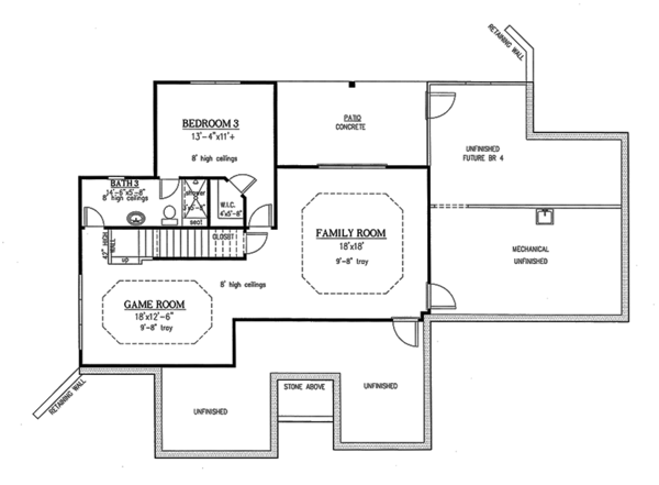 Craftsman Floor Plan - Upper Floor Plan Plan #437-75