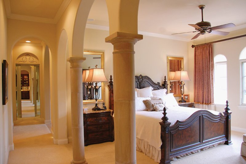 Mediterranean Interior - Master Bedroom Plan #1058-14 - Houseplans.com