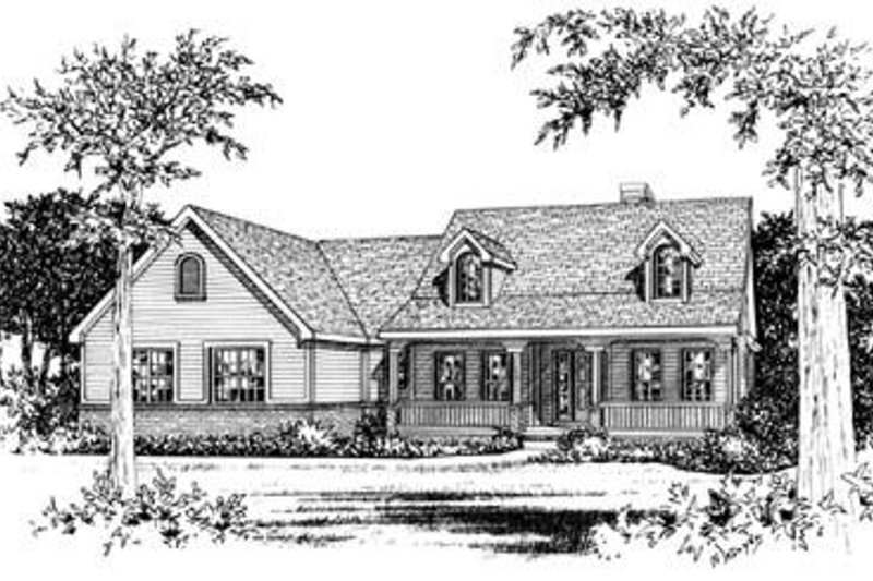 Country Exterior - Front Elevation Plan #20-817