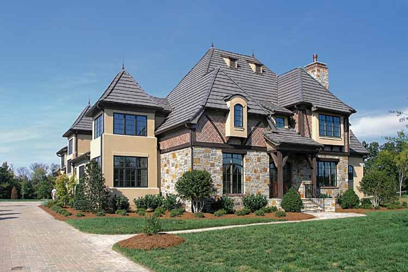 House Plan Design - European Exterior - Front Elevation Plan #453-214
