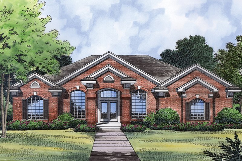 Traditional Exterior - Front Elevation Plan #417-835 - Houseplans.com