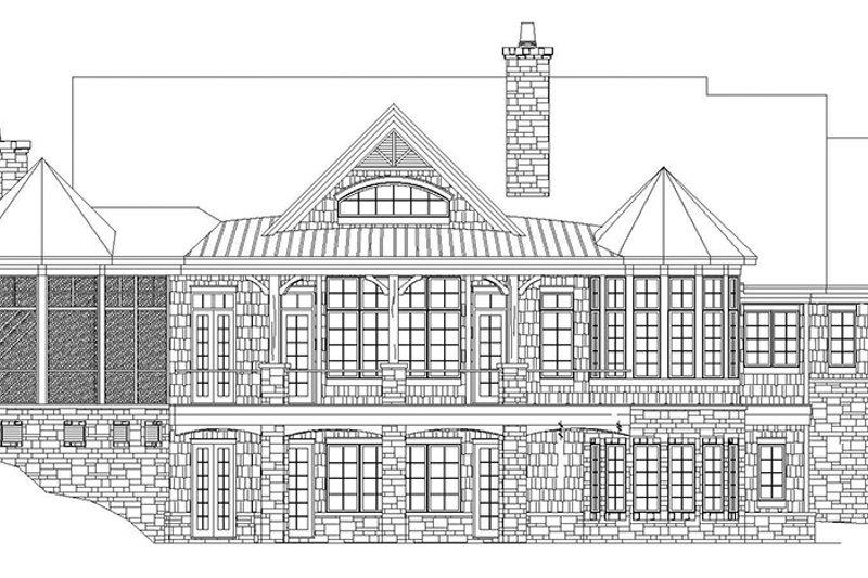 Craftsman Exterior - Rear Elevation Plan #929-931 - Houseplans.com
