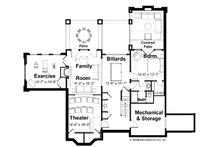 Classical Floor Plan - Lower Floor Plan Plan #928-55