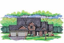 Colonial Exterior - Front Elevation Plan #51-1039
