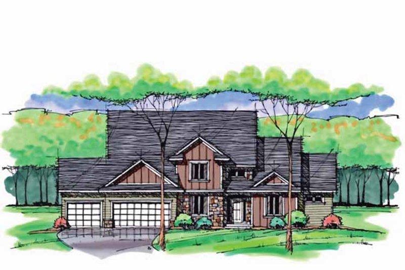 Colonial Exterior - Front Elevation Plan #51-1039 - Houseplans.com