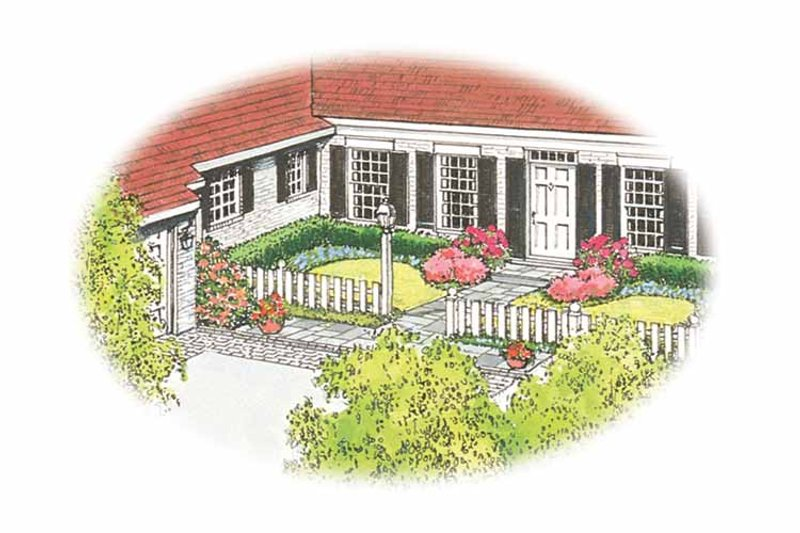 Ranch Exterior - Front Elevation Plan #1040-13 - Houseplans.com
