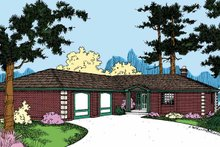 House Plan Design - Contemporary Exterior - Front Elevation Plan #60-728