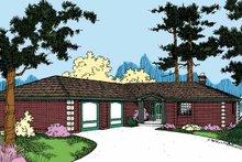 House Plan Design - Contemporary Exterior - Front Elevation Plan #60-728